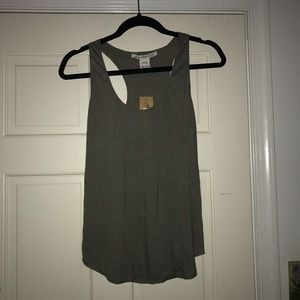 Olive Green Racerback Tank Top
